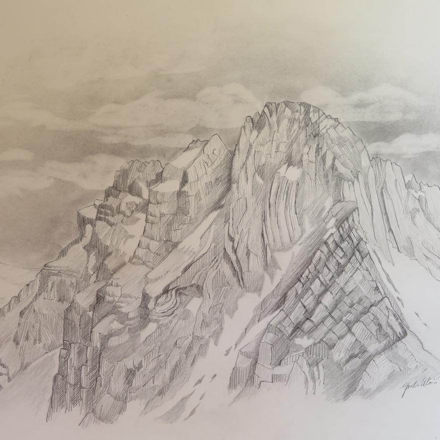 Mürtschenstöcke, GL                                        Bleistift, 42 x 60, 2020