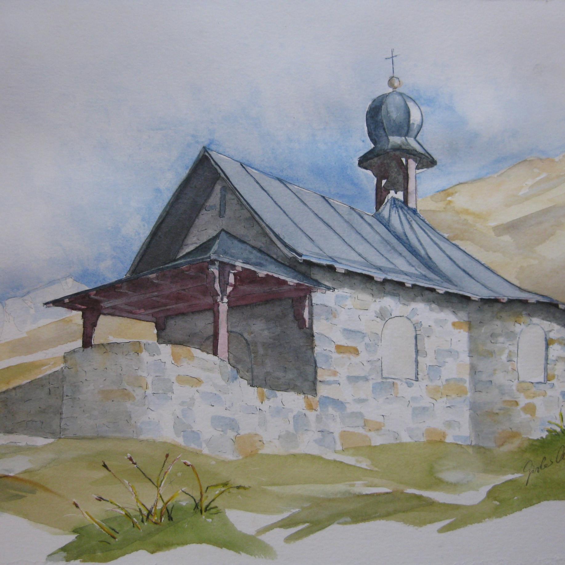 Klausenkapelle, UR                               Aquarell, 40 x 50, 2019