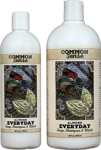 Everyday Almond Soap, Shampoo & Wash