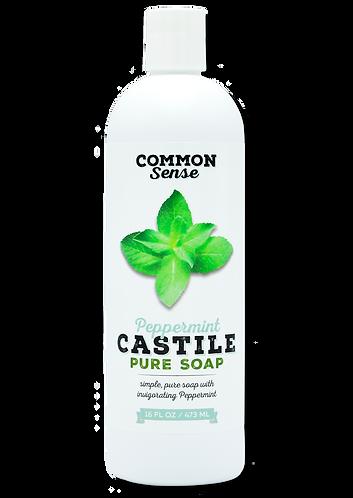 Peppermint Castile Soap-16 oz