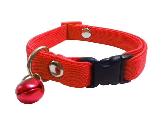 Collar elástico gato rojo