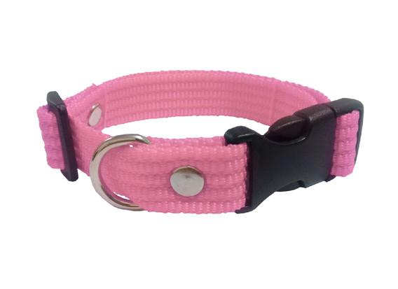 Collar liso mediano rosa bebe