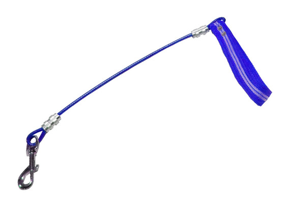 Maniqueta de cable azul