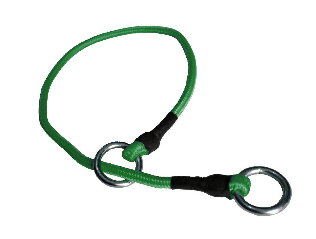 Collar de castigo alpinista delgado verde fuerte