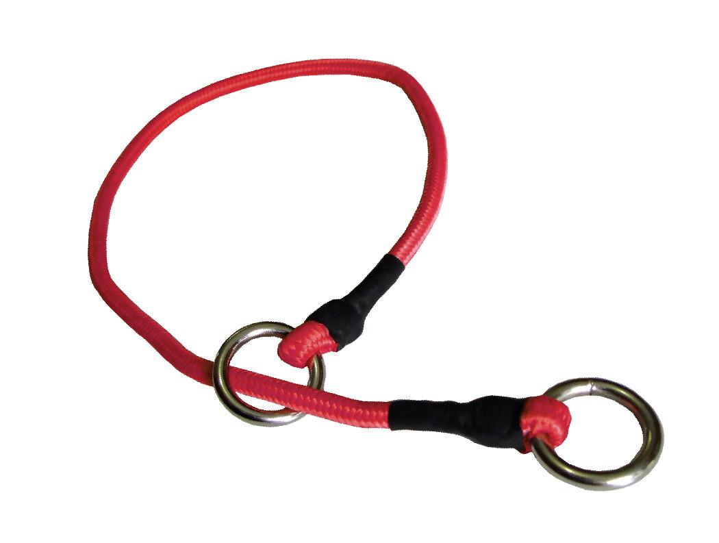 Collar de castigo alpinista delgado rojo