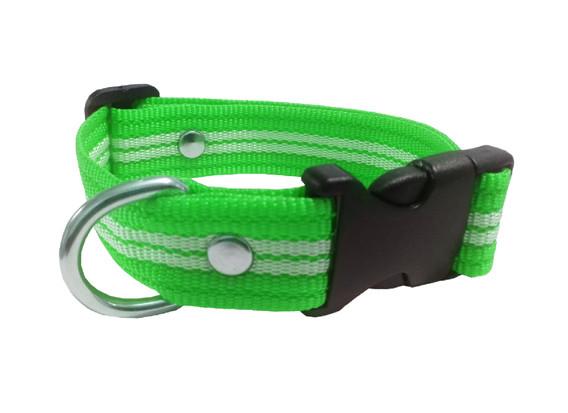 Collar rayado mediano verde