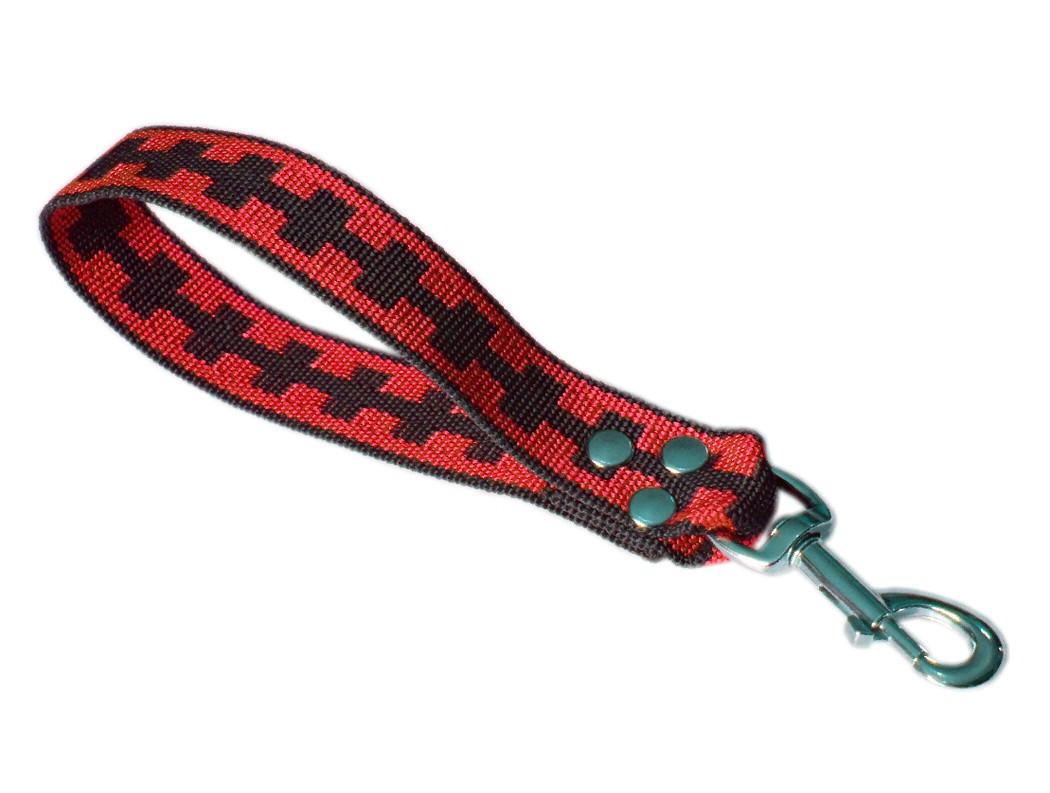 Maniqueta corta rojo y negro