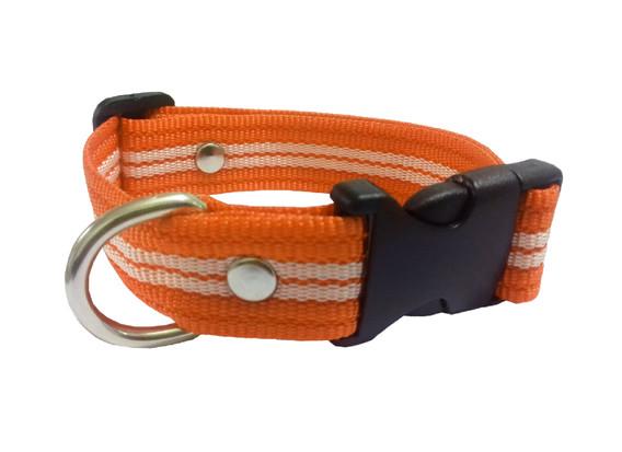 Collar rayado mediano naranja