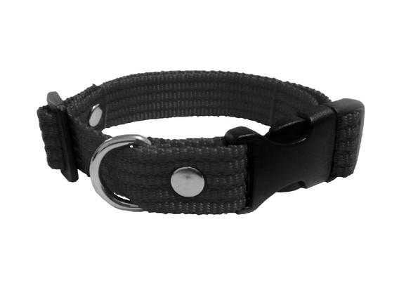 Collar liso mediano negro