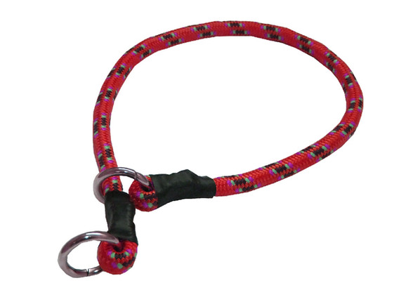 Collar de castigo alpinista grueso rojo