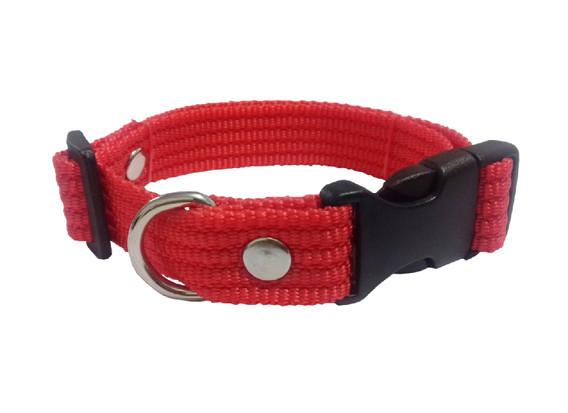Collar liso mediano rojo