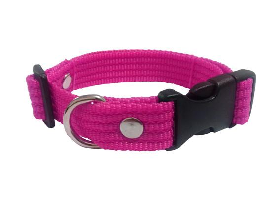 Collar liso mediano rosa