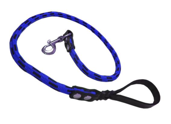 Correa alpinista piel azul