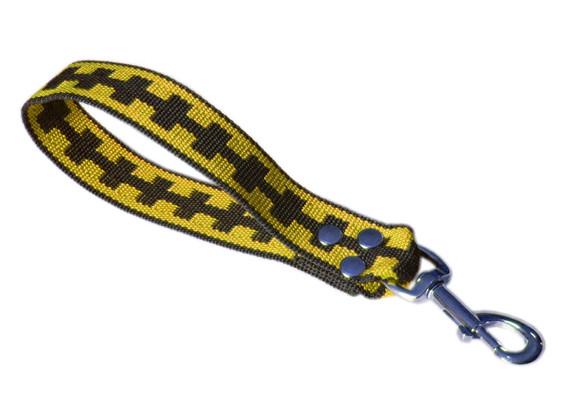 Maniqueta corta amarillo y negro
