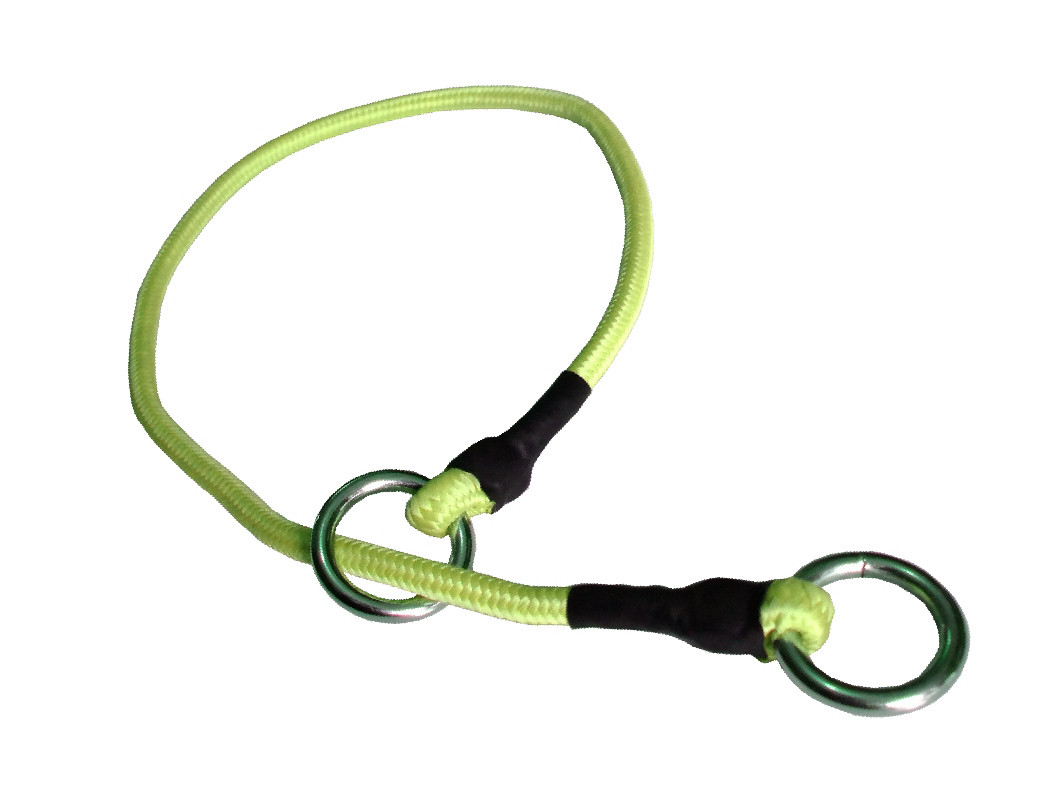 Collar de castigo alpinista delgado verde limon