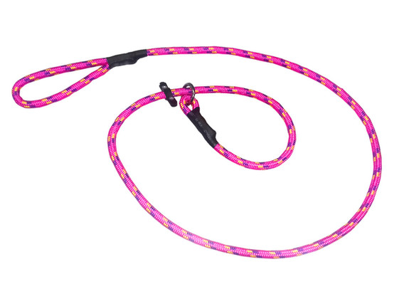 Correa de entrenamiento gruesa con argolla rosa