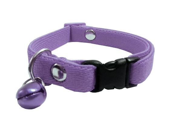 Collar elástico gato lila