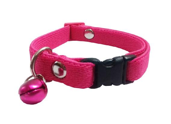 Collar elástico gato rosa