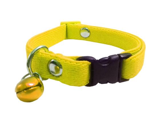 Collar elástico gato amarillo