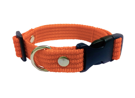Collar liso mediano naranja