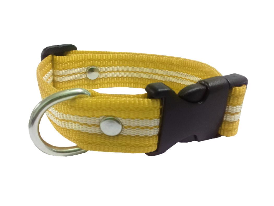 Collar rayado mediano amarillo