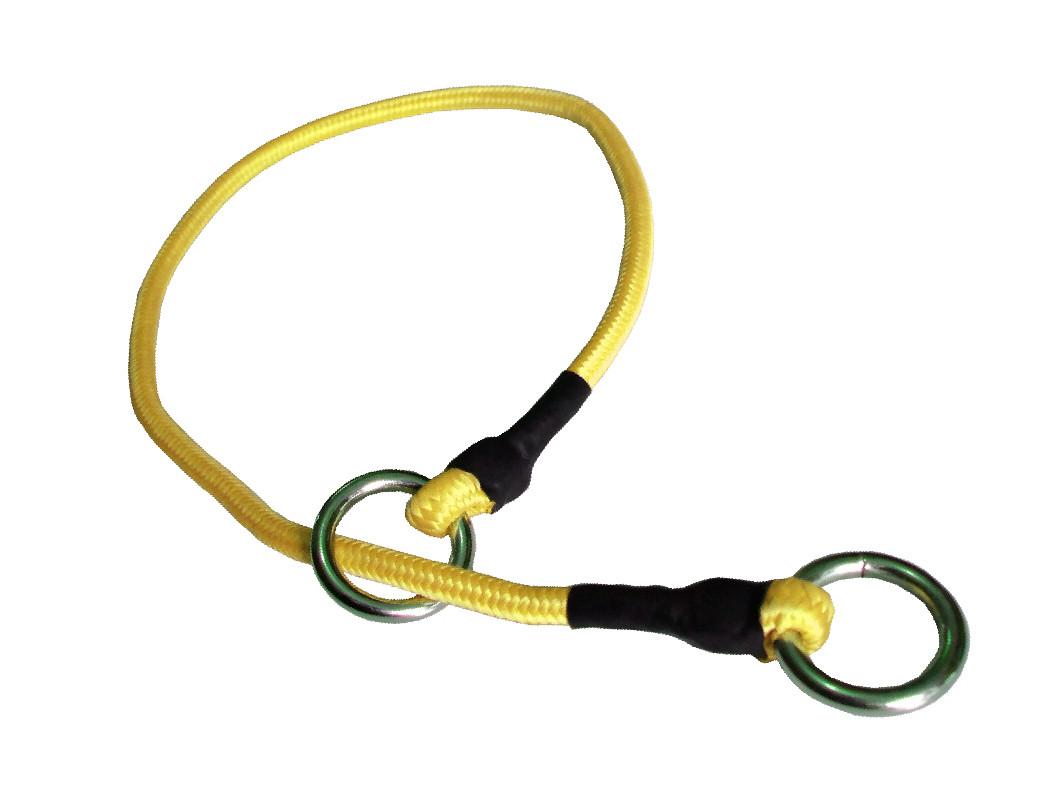 Collar de castigo alpinista delgado amarillo