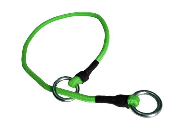 Collar de castigo alpinista delgado verde