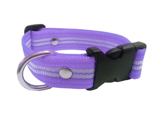 Collar rayado mediano lila