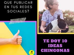 IDEAS DE QUÉ PUBLICAR EN TUS REDES SOCIALES