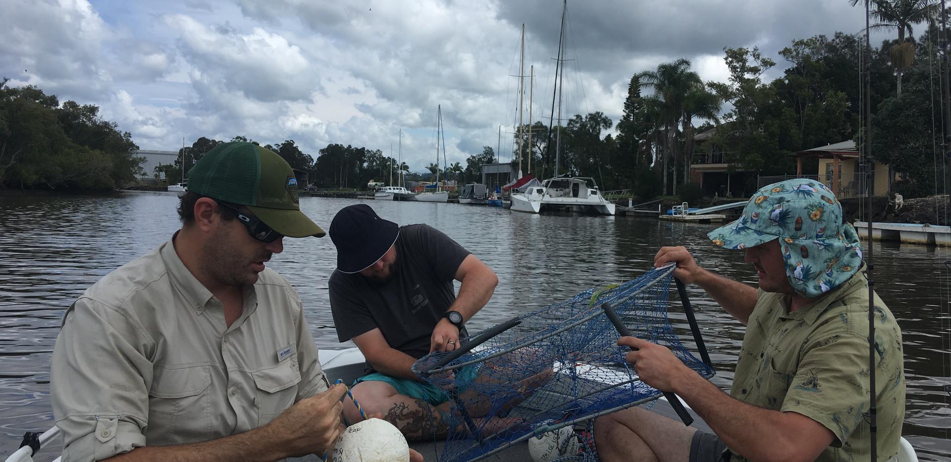 Catching crabs