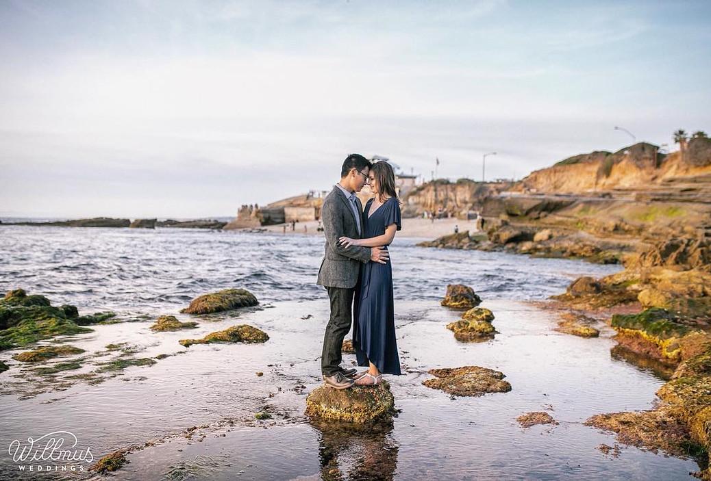 Engagement photoshoot La Jolla Cove