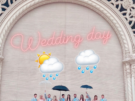 Rain On Your Wedding Day? Here's What To Do!