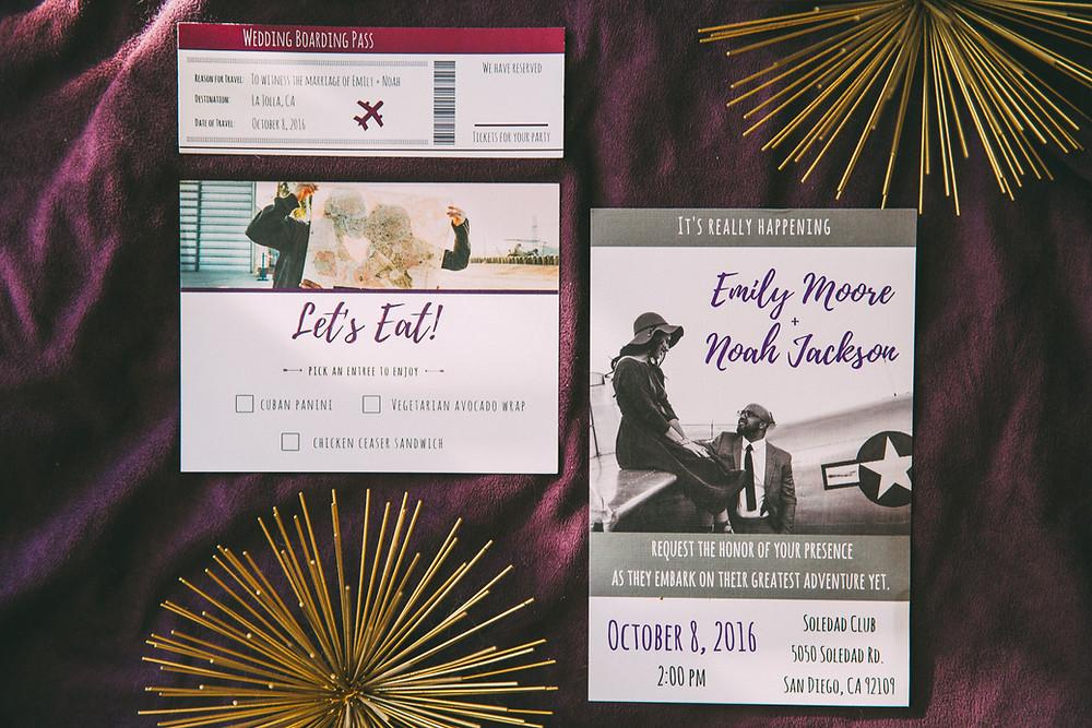 Save The Date Travel theme Wedding Invitation