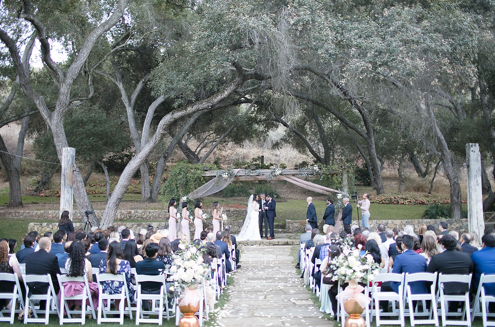 Wedding Ceremony at Vista Valley Country Club San Diego