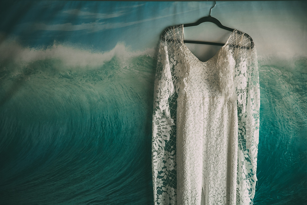 cute bohemian wedding dress lace