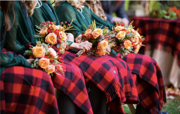 Blankets for fall wedding
