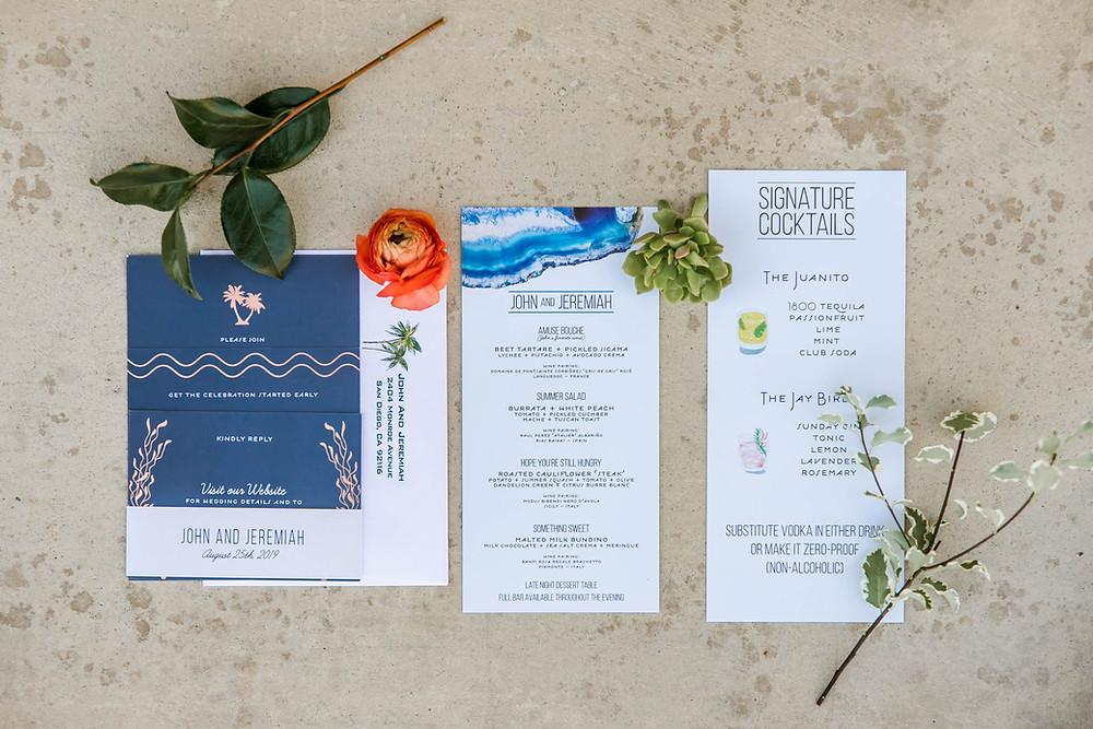 Custom Wedding Invitation San Diego Weddings