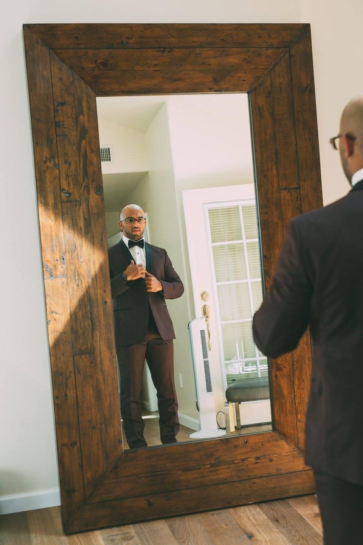 purple groom tuxedo wedding