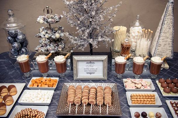 Fall Wedding menu food desert table