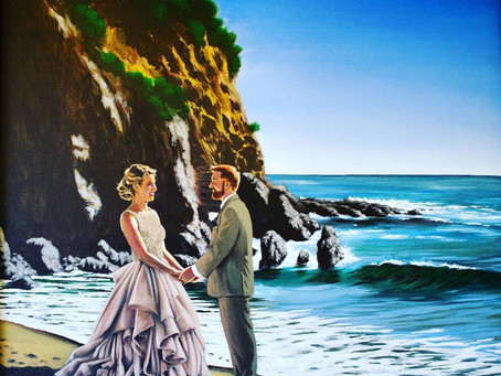 Live Painter For Your Wedding Ceremony &  Reception