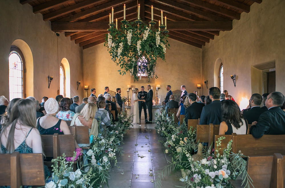 Wedding Ceremony at Cal A Vie Chapel