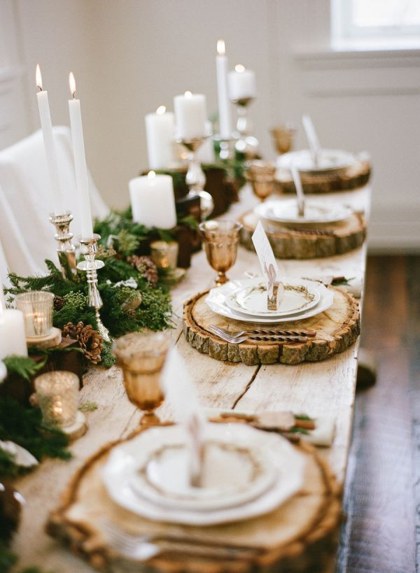 Fall wedding table scape