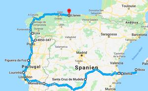 Unsere Route von Ibiza nach Portugal und Spanien