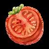 Une demi-tomate