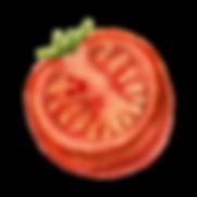 La mitad de un tomate