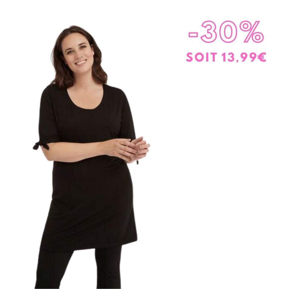 MS Mode - Long t-shirt avec un décor à nœud
