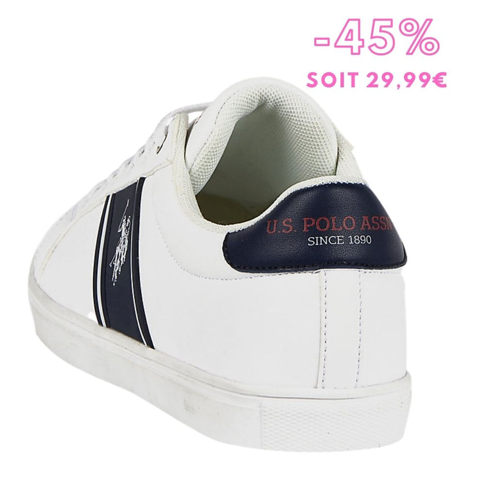 US POLO - Sneakers homme Loic BLANC