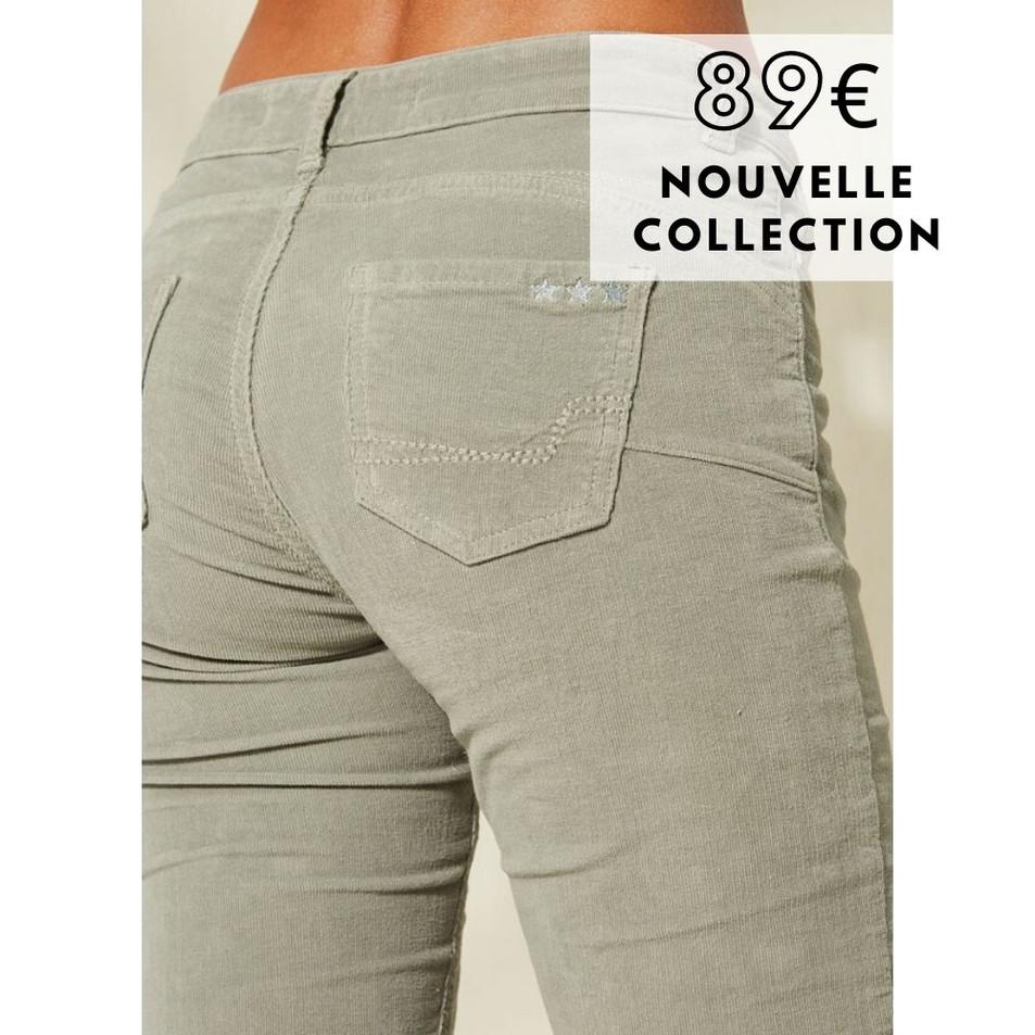Sud Express - Pantalon Poupin côtelé