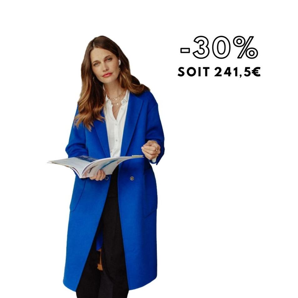 DUNE - Manteau long bleu électrique