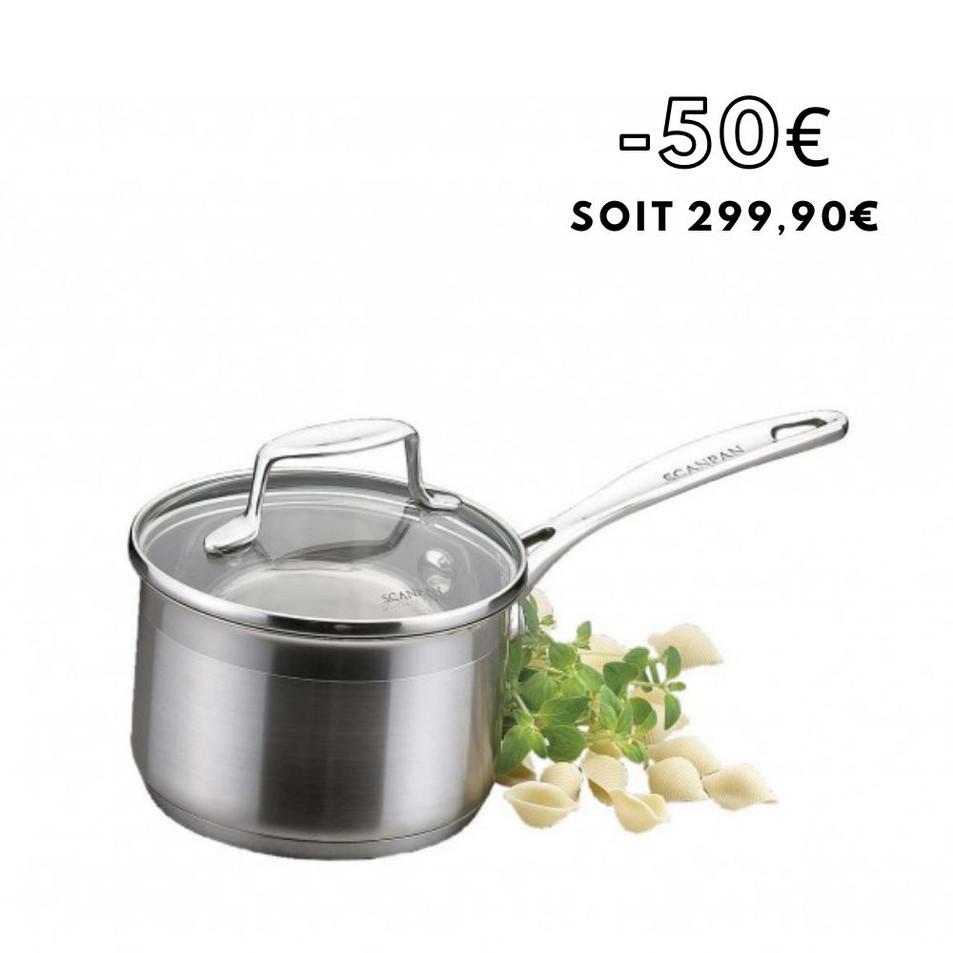 Scanpan - Set de 3 casseroles en acier inoxybale